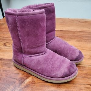 UGG Women's Classic Short Style Purple Boots 6